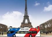 巴黎观光巴士 Open Tour 2日游单人通票