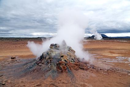 圆锥形火山喷火口
